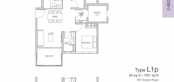 van-holland-floor-plan-2-bedroom-study-exclusive-type-L1-singapore